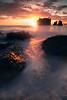Ruby Beach Flow Of Tide Rialto Beach, Olympic National Park, Washington