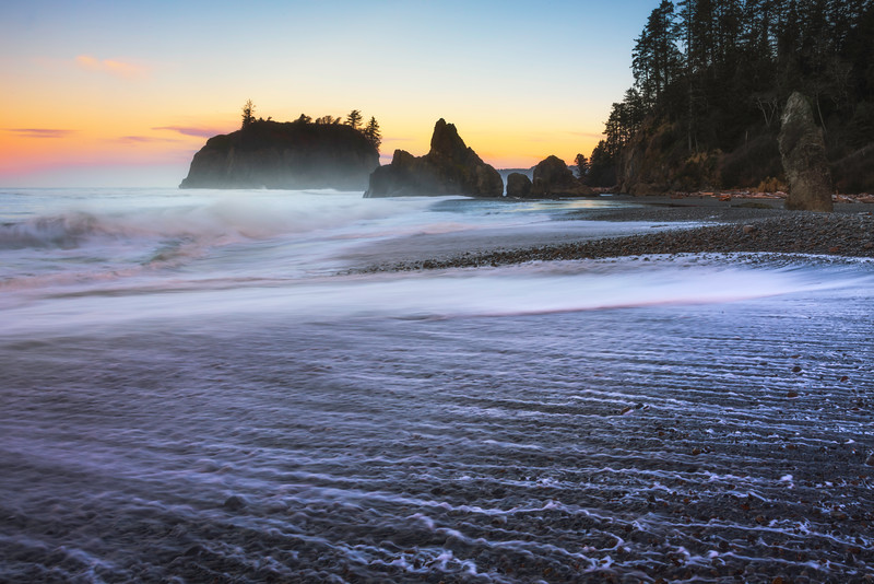The Early Morning Rush Of Waves On Ruby Beach