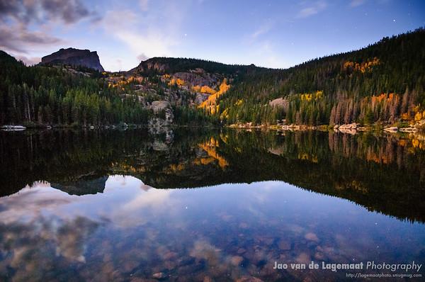 Bear Lake at night