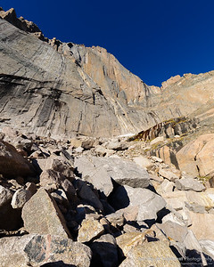 Towering peak and shear rockface