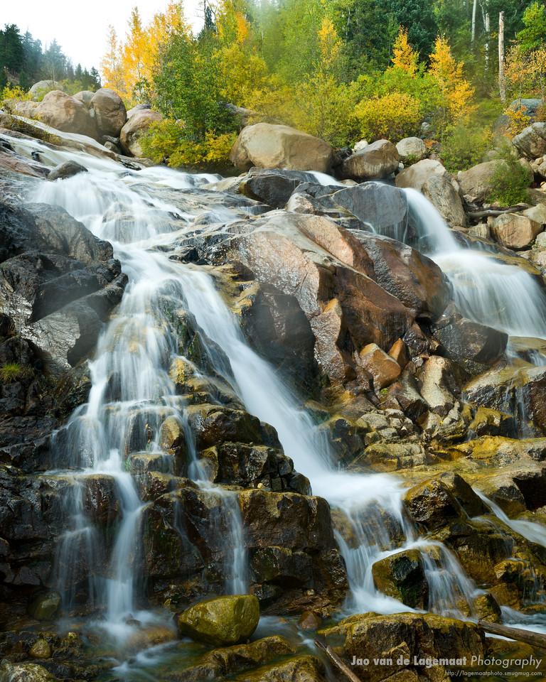 Alluvial fan in fall