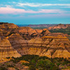 Pink Skies Over The Badlands - Theodore Roosevelt National Park, North Dakota