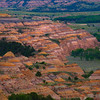Abstract Color Patterns In The Badlands - Theodore Roosevelt National Park, North Dakota