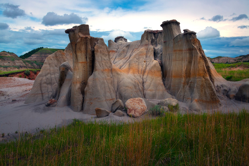 A Hoodoo Island In Oasis - Theodore Roosevelt National Park, North Dakota