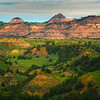 Overlooking The Spring Greens And Badlands - Theodore Roosevelt National Park, North Dakota