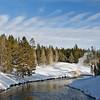 stream Bisen;  Yellowstone in Winter