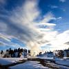 steam  Yellowstone in Winter
