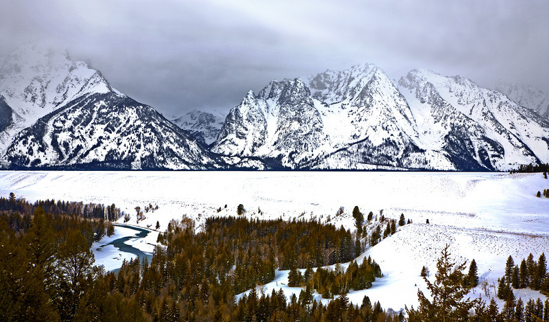 Snake River HDR  Grand Teton's