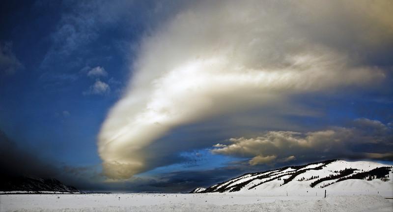 cloud Panorama near the Grand tetons