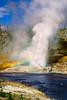 Riverside geyser erupting - Yellowstone NP