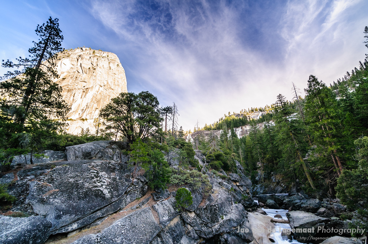 Liberty bell and Merced river