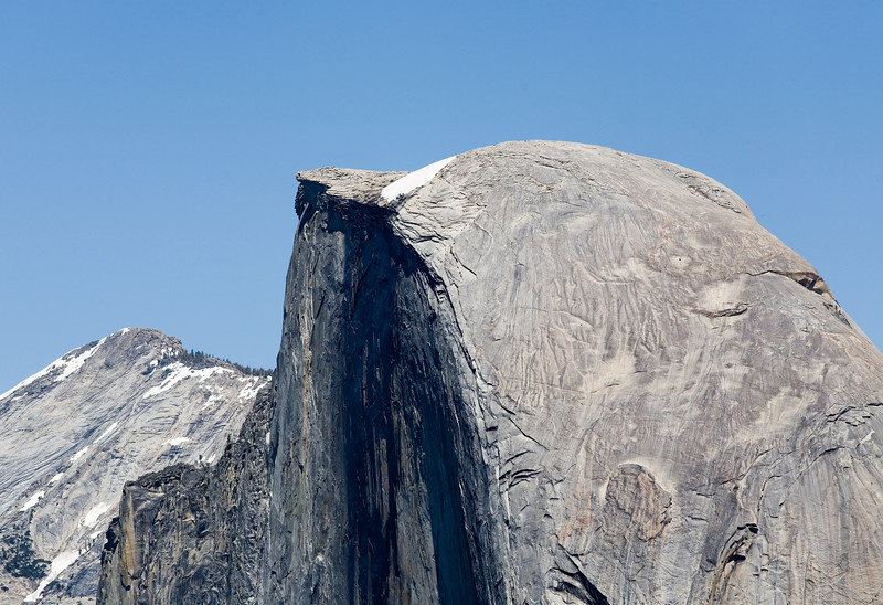 Half Dome enlarged.  Look close, you can see people walking on top. Yosemite;