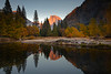 Sunset From Yosemite River Bend - Lower Yosemite Valley, Yosemite National Park, California