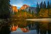 Housekeeping Bend Sunset - Lower Yosemite Valley, Yosemite National Park, California