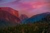 Half Dome At Peak Of Sunset From Big Oak Flat Road - Lower Yosemite Valley, Yosemite National Park, California