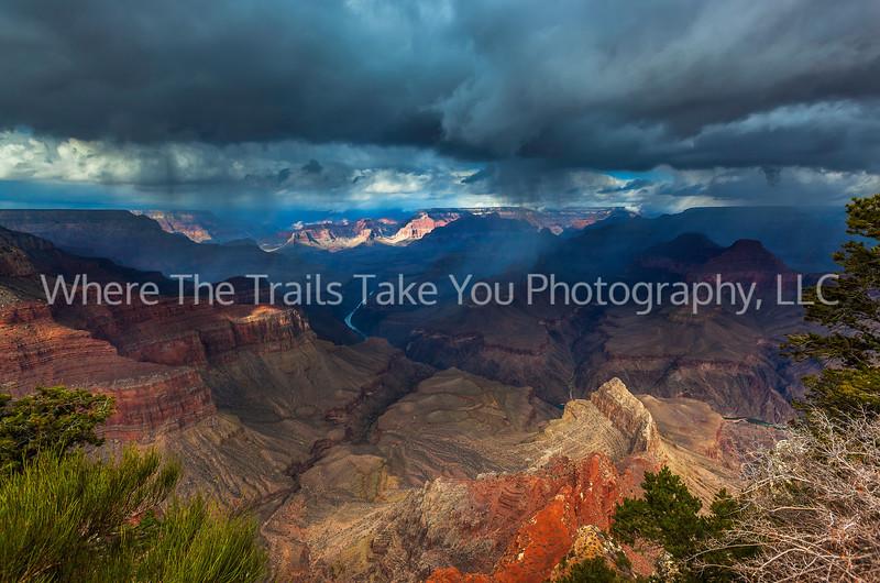 3  Storm at Pima Point, South Rim of the Grand Canyon National Park, Arizona