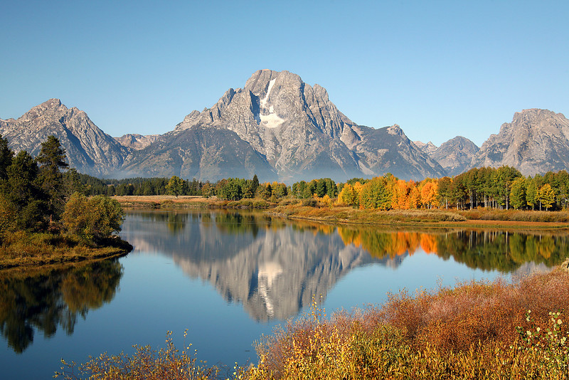 Mt Moran Reflected In Oxbow Bend - Grand Teton National Park - WY