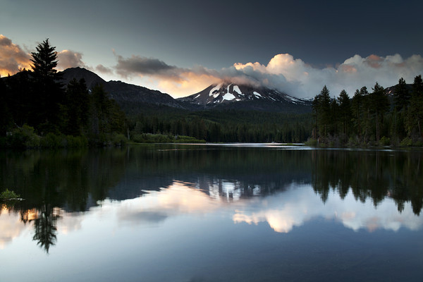 First Light on Mount Lassen