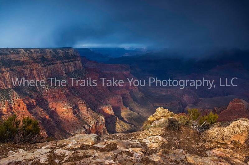 26  Morning Snowstorm at Yaki Point, Grand Canyon National Park, Arizona