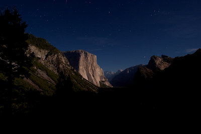 Yosemite Valley - El Capitan at 2 AM in the Morning