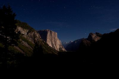 Yosemite Valley - El Capitan at 2 AM in the Morning