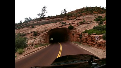 Driving into Zion from the East Entrance