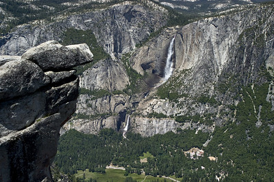 Yosemite Valley from Glacier Point, Upper and Lower falls