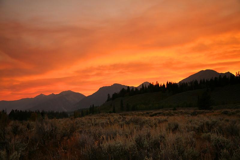 Smoky Sunset - Grand Teton National Park - WY