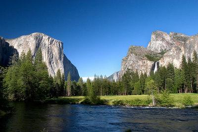 Yosemite Valley, El Capitan, Bridalvail Falls