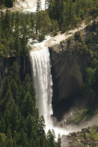 Falls looking down from Glacial Point, Yosemite