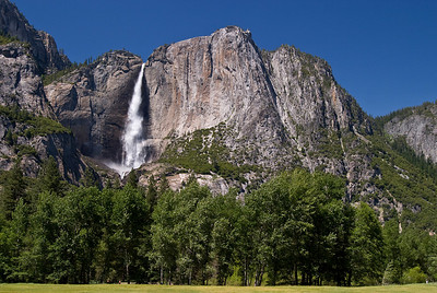 Yosemite Lower falls from Tenaya Valley