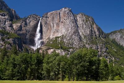 Yosemite Lower falls from Tenaya Valley