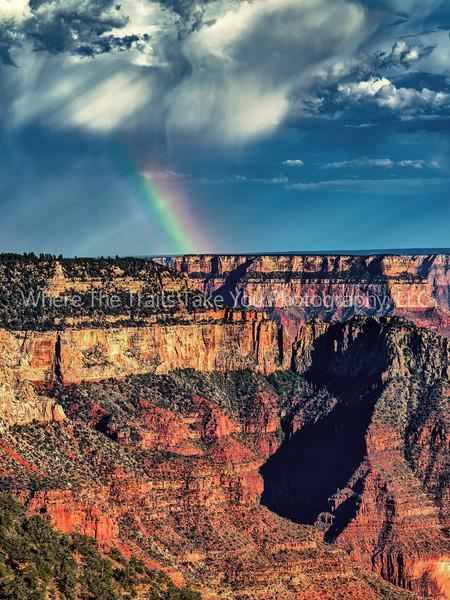 62.  Rain And Rainbow Over The North Rim