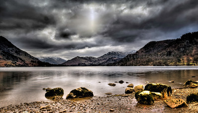 Storm over Ullswater Lake