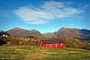 Fra Holdhus mot vakre fjell i Hålandsdalen