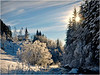 Vinterstemning ved Hålandsdalen kyrkje