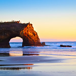 Winter Sunset at Natural Bridges State Park, Santa Cruz, California.