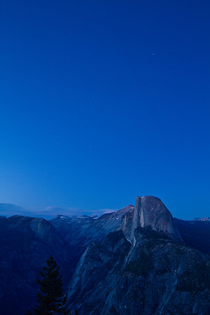 Half Dome in the blue hour