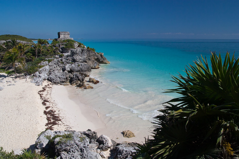 Near Mayan ruins of Tulum in Mexico
