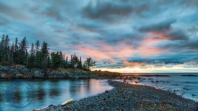 Sunrise over Ellingson Island