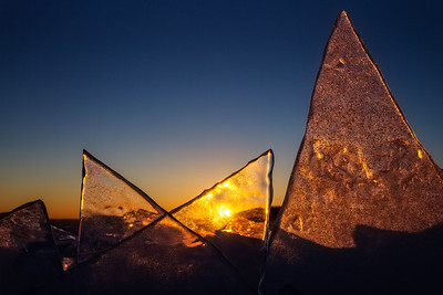 Stack Ice on Lake Superior