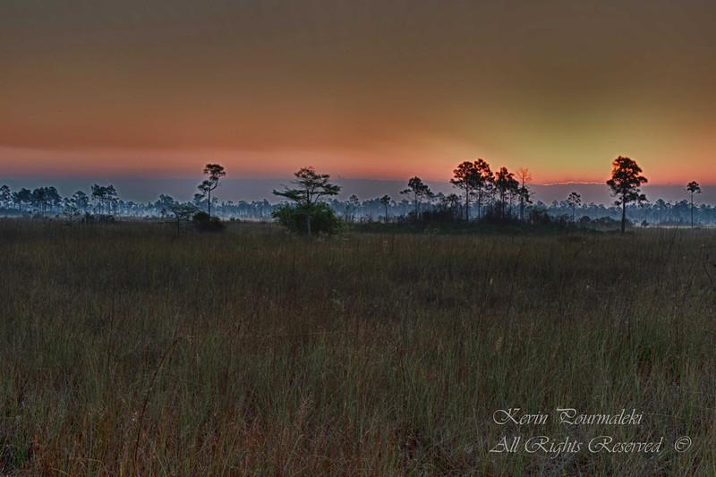 Sunrise at Everglades National Park, South Florida.