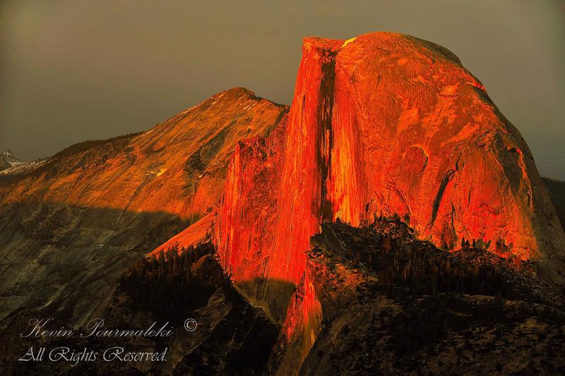 Half Dome.  Yosemite National Park, California
