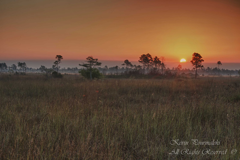 Sunrise at Everglades National Park, South Florida.