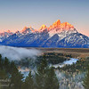 Sunrise at Snake River. Grand Teton National Park, Wyoming