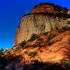 Sunrise in Zion national park.