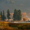 Sunrise at Oxbow Bend, Grand Teton National Park, Wyoming.