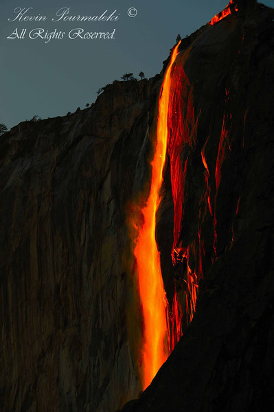 Horse Tail Fall.  Yosemite National Park, California