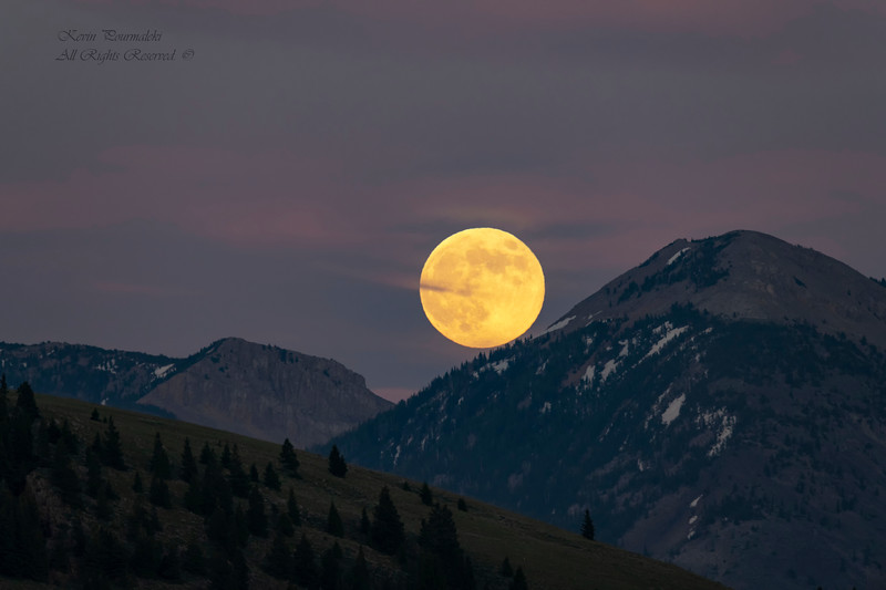 Moonrise in Centennial Valley, Montana