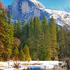 Half Dome, Yosemite National Park.  California.